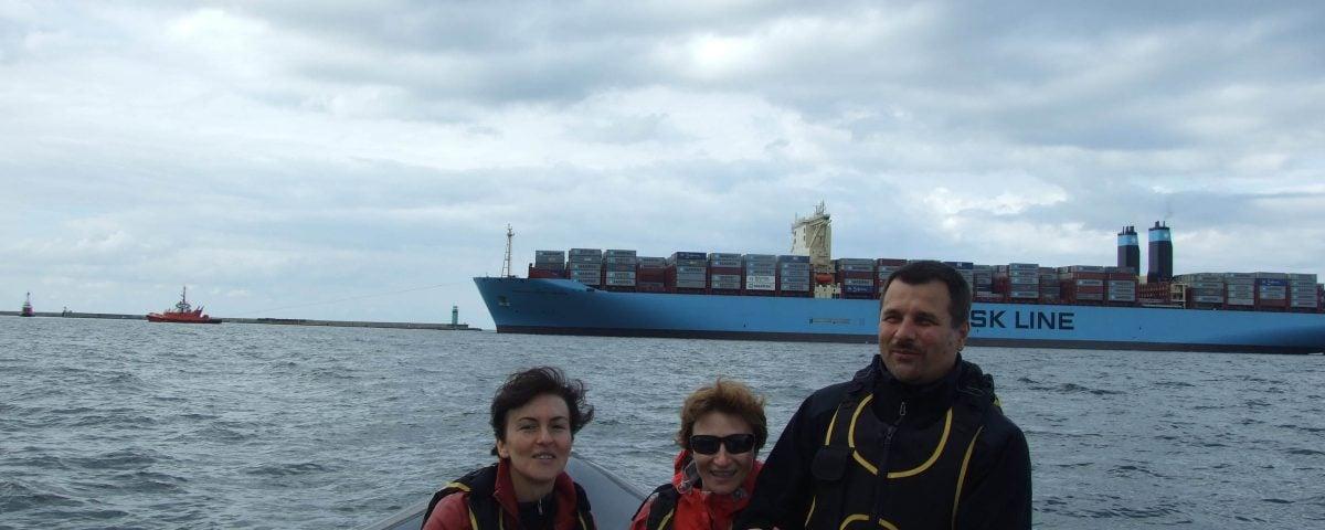 rejs motorówką i Maersk Triple-E