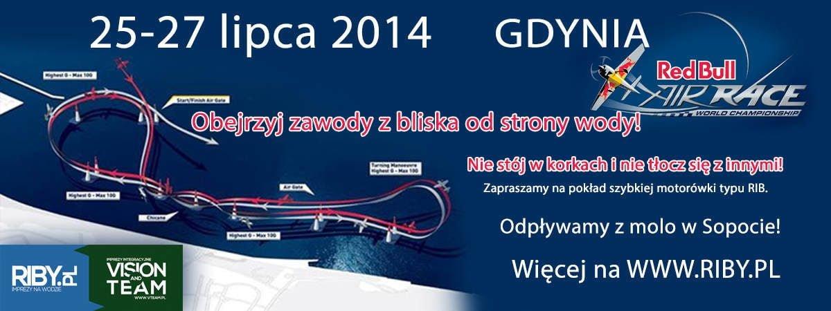 Air Show w Gdyni z pokłądu motorówki